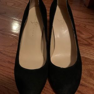 Ivanka Trump black suede wedges